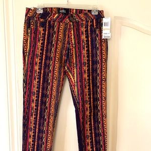 Low Rise-Skinny-Multi-Colored Jeans